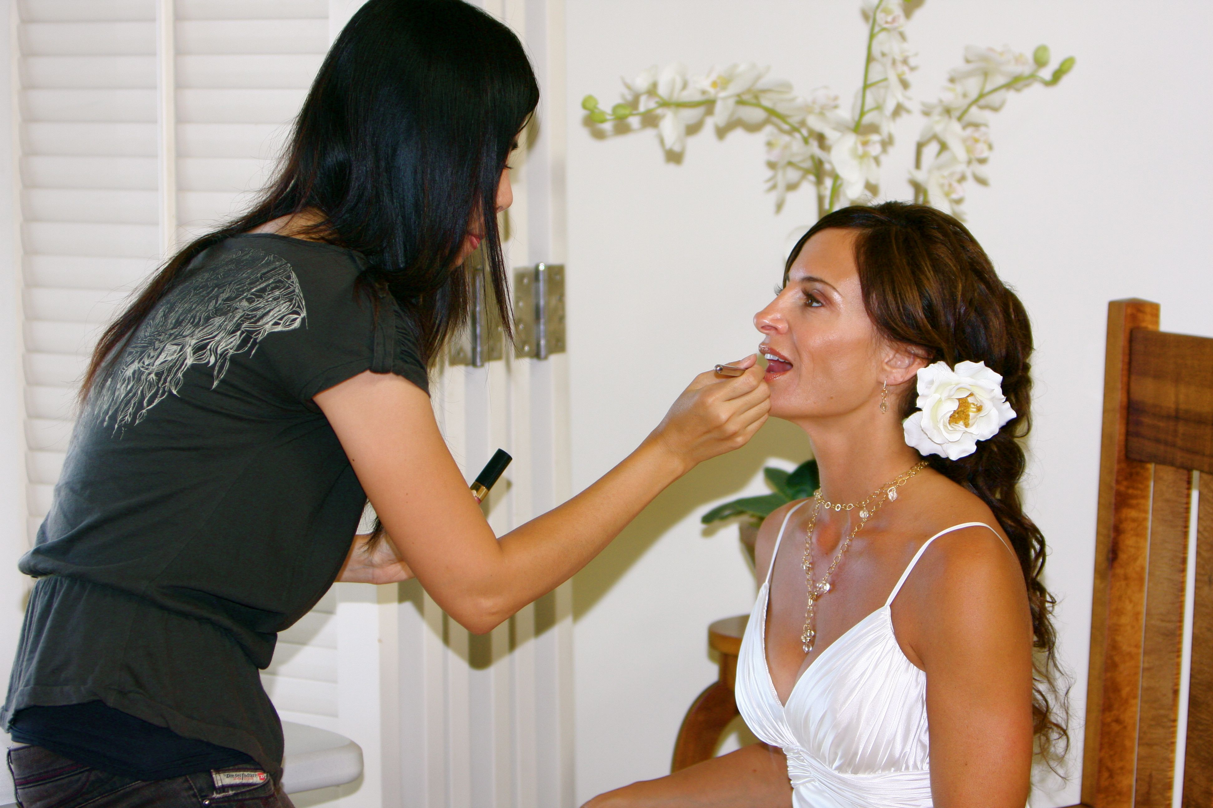 hawaii wedding makeup & hair styling